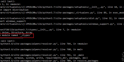 Linux ModuleNotFoundError: No module named '_ctypes'