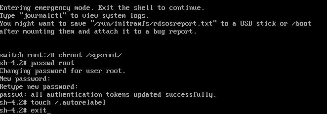 Linux重置登录密码